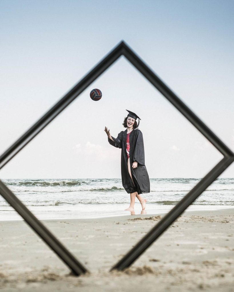 Beach Graduation Photography